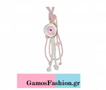 0e8dfbd296c Οικονομικές Μπομπονιέρες Μάτι Λευκό Ροζ Με Ροζ Κορδόνι 22 εκ.